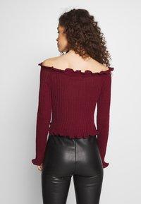 Glamorous Petite - EXCLUSIVE BARDOT - Strickpullover - dark red - 2