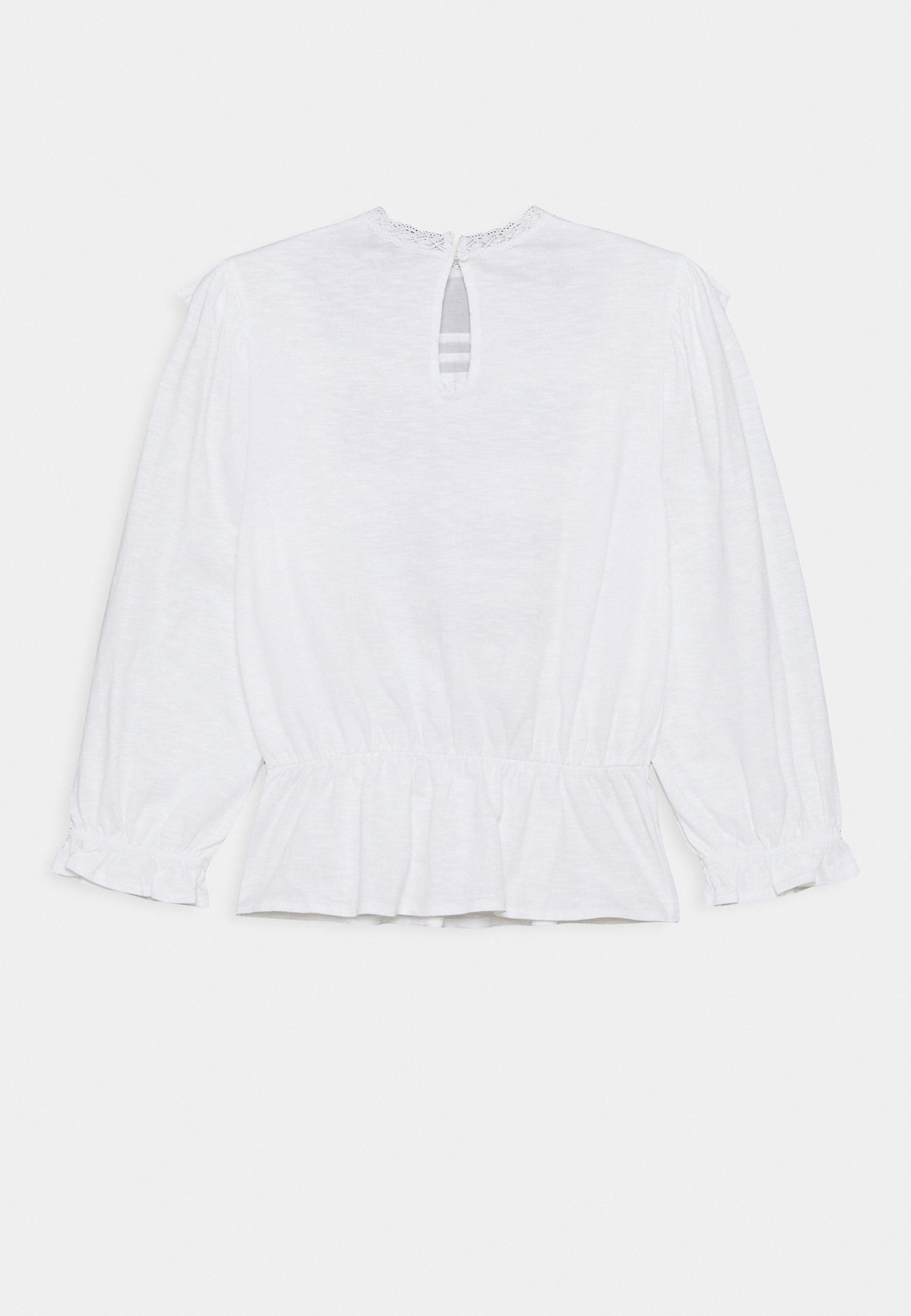 Women PINTUCK RUFFLE TRIM - Long sleeved top