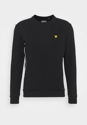 CREW NECK WITH CONTRAST PIPING - Sweatshirt - true black