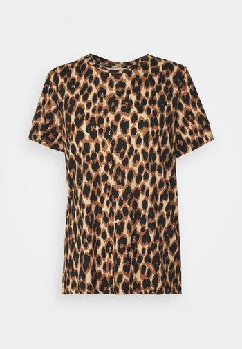 CUBRA - T-shirt med print - tan