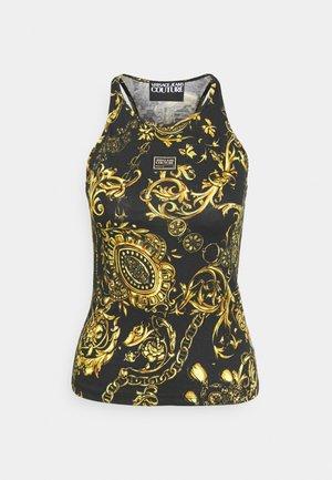 T-shirt z nadrukiem - black/gold