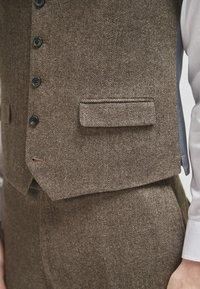 Next - Suit waistcoat - brown - 2