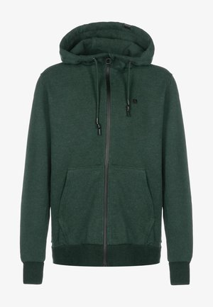 TRASHER A - Sweater met rits - dark forest