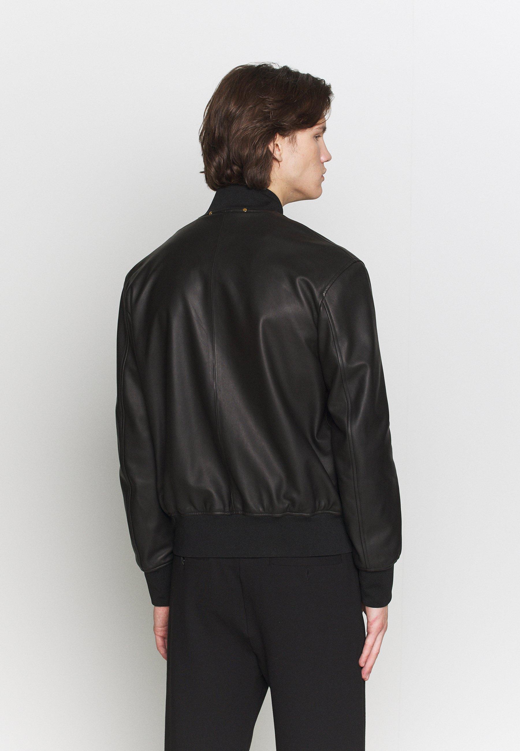Paul Smith GENTS JACKET - Veste en cuir - black