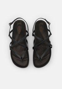 ZIGN Wide Fit - T-bar sandals - black - 5