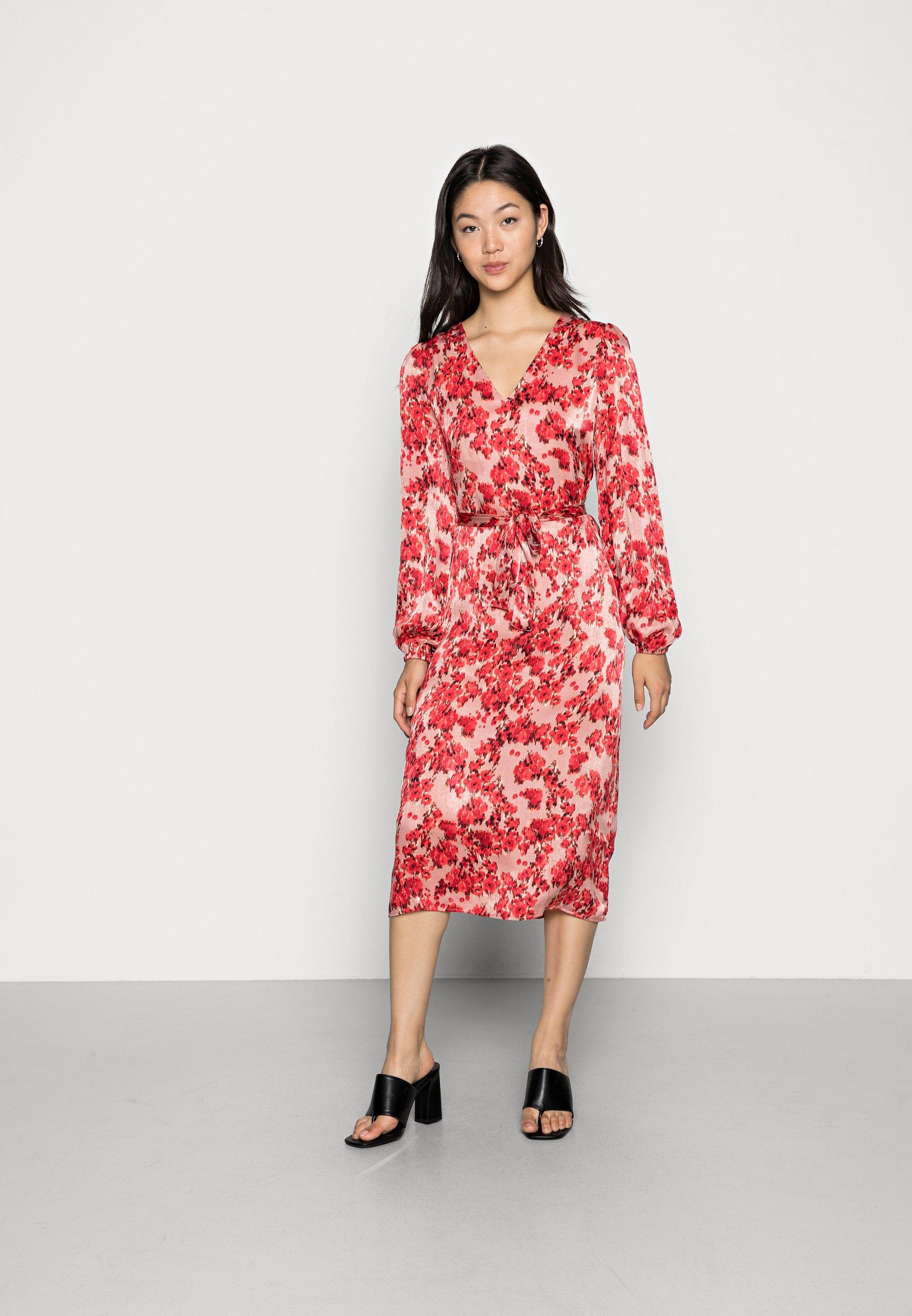 Women VILIANA V-NECK L/S SHORTDRESS/DC/SU - Day dress