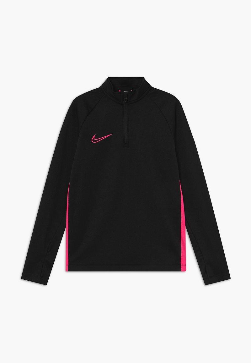 Nike Performance - DRY ACADEMY DRIL - Sports shirt - black/hyper pink
