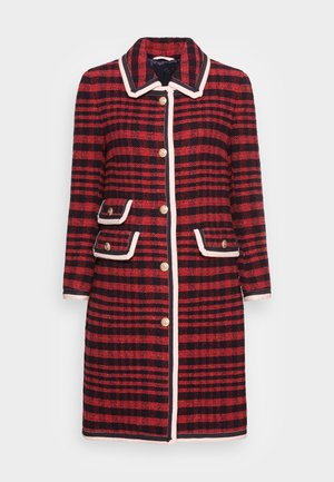BOLD CHECKED TWEED COAT - Classic coat - bright red