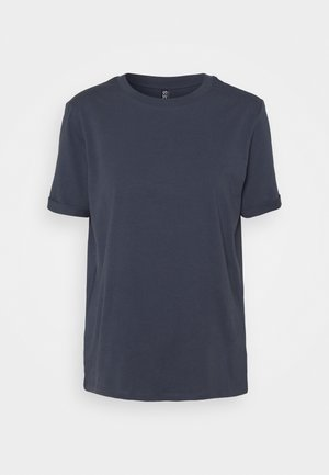 PCRIA FOLD UP SOLID TEE - T-shirt basic - ombre blue