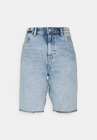 Denim shorts - blue dusty light