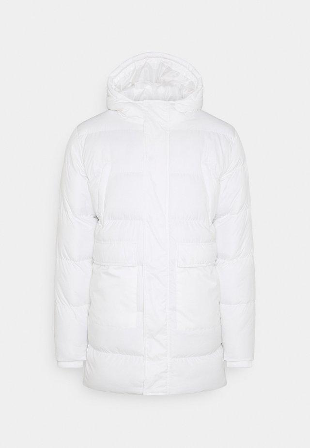 LONGLINE JACKET - Winter coat - white