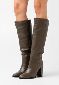 LAB - High heeled boots - volga kaki - 0