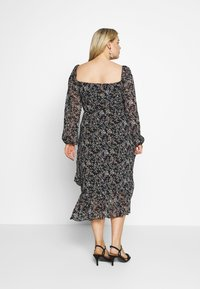 Missguided Plus - MILKMAID LONG SLEEVE MIDI DRESS - Maxi dress - black - 2