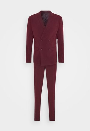 DOUBLE BREASTED SUIT - SLIM FIT - Garnitur - bordeaux