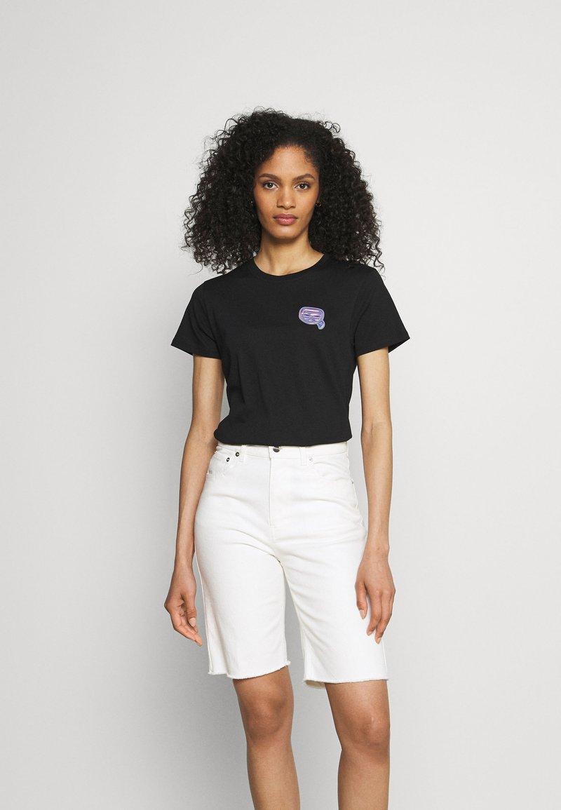 KARL LAGERFELD - MINI IKONIK BALLOON TEE - T-Shirt print - black