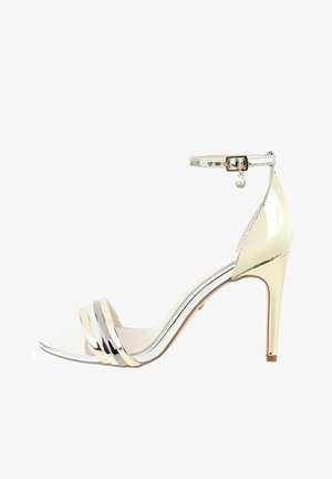 PANCOLE - High heeled sandals - platinum