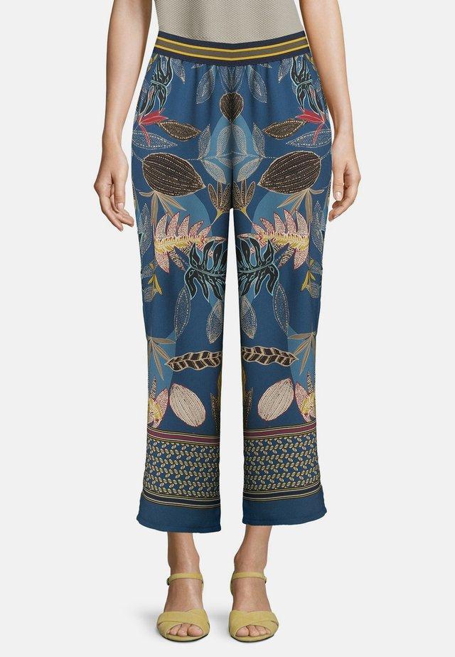 SCHLUPFHOSE MIT GUMMIZUG - Pantalon classique - petrol/petrol