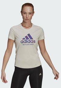 adidas Performance - Print T-shirt - sand - 1
