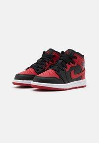 Jordan - 1 MID UNISEX - Basketball shoes - black/gym red/white - 1