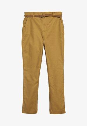 CINTURÓN - Chino kalhoty - beige/camel