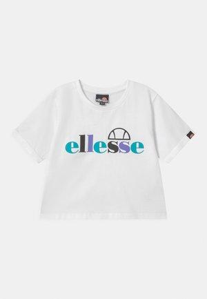 GIANDUIA CROP - T-shirt con stampa - white
