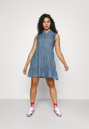 CARESMA LIFE TUNIC DRESS - Denim dress - medium blue denim