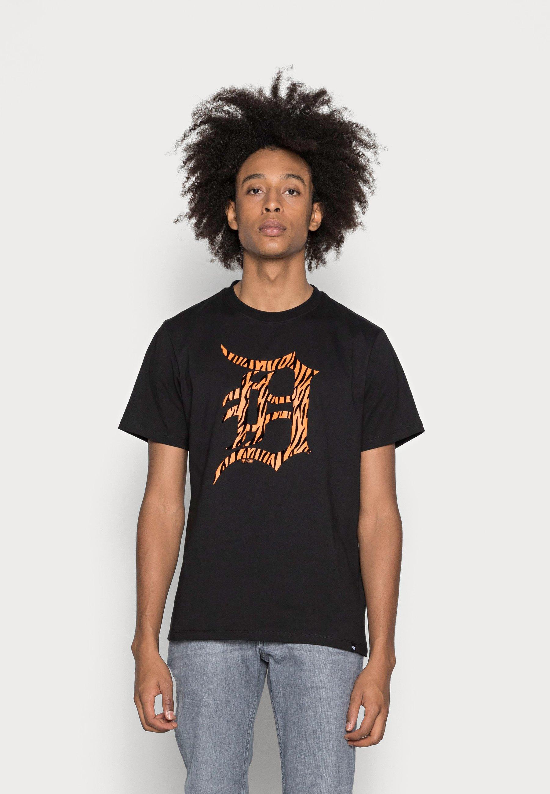 Men DETROIT TIGERS FLOCKED ECHO TEE - Print T-shirt