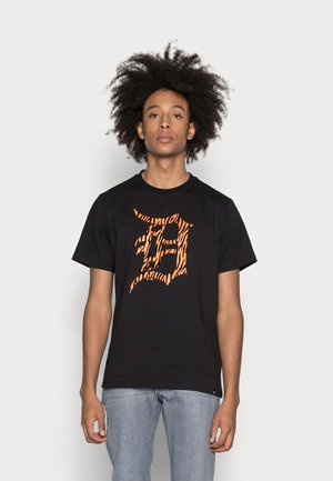 DETROIT TIGERS FLOCKED ECHO TEE - T-shirt print - jet black