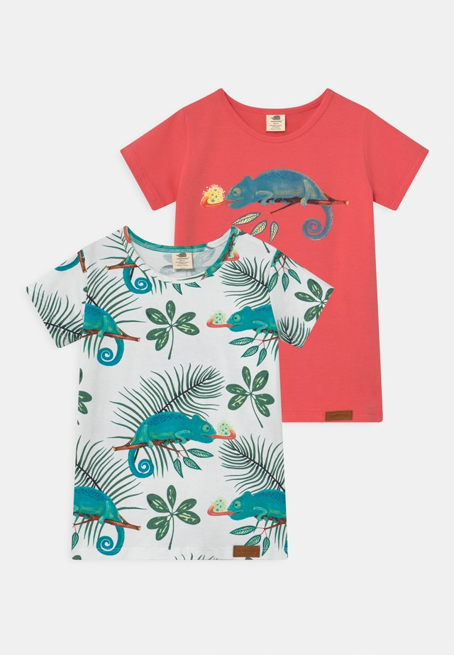 CHAMELEONS 2 PACK UNISEX - T-shirt print - pink