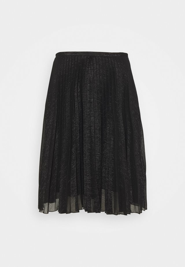 PLEATED SKIRT - A-lijn rok - black