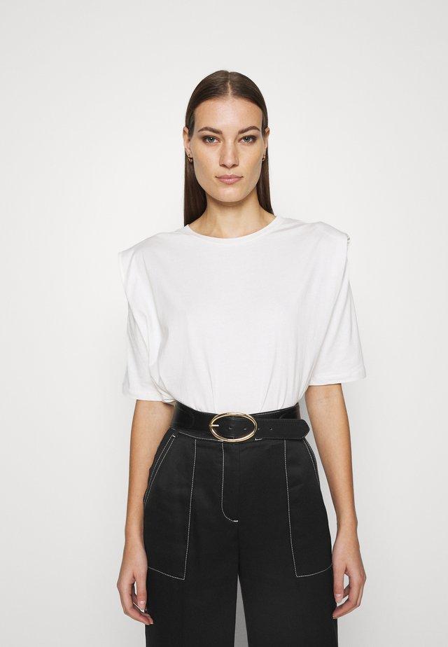 SLFOLINE PADDED TEE  - T-shirt con stampa - snow white