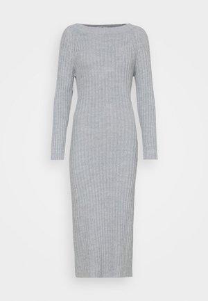 LASSIE DRESS - Vestido de punto - light grey