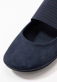 Camper - RIGHT NINA - Ankle strap ballet pumps - navy - 2