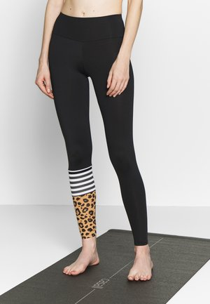 SURF STYLE LEO BISCUIT CARRY OVER - Legging - black