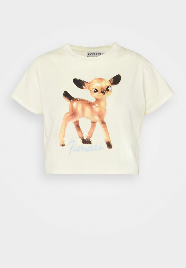 DEER BOXY HONEY SUCKLE - T-shirt imprimé - yellow