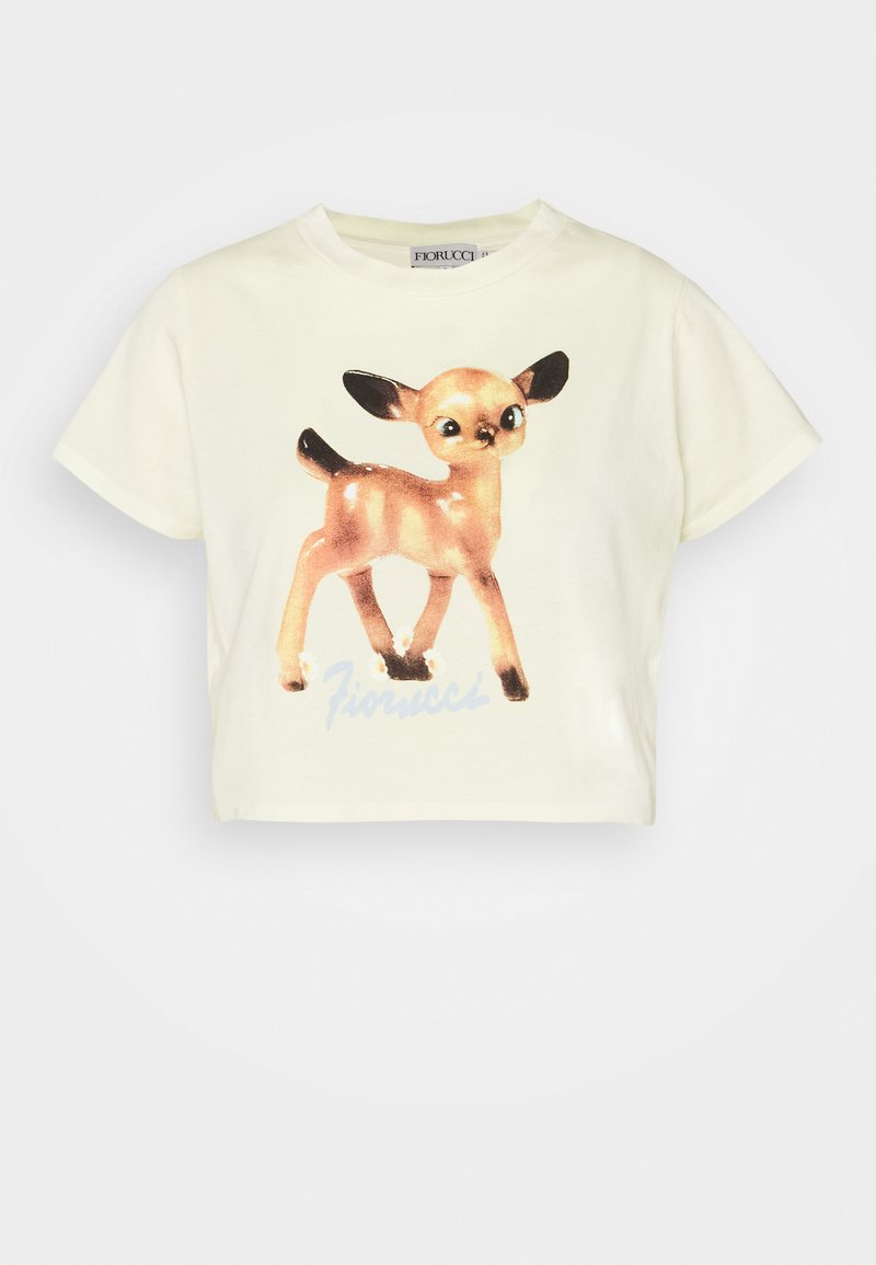 Fiorucci - DEER BOXY HONEY SUCKLE - Print T-shirt - yellow