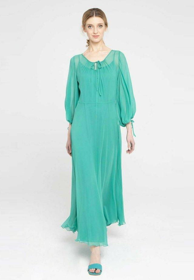 Długa sukienka - turkusowy