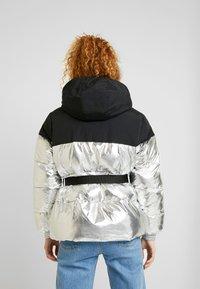 Tommy Jeans - BELTED JACKET - Winter jacket - silver - 2