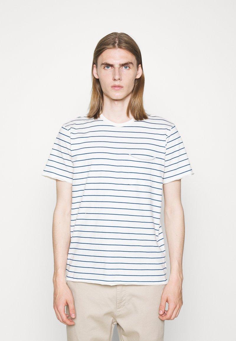 rag & bone - MILES TEE - Print T-shirt - ivryblue