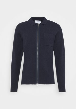 SLHWILL CARDIGAN - Vest - navy blazer melange