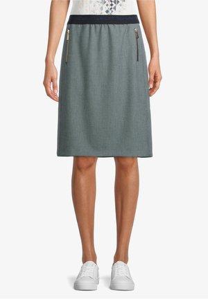 A-line skirt - dunkelblau/weiß