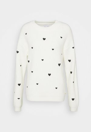 DISCO HEART - Strikkegenser - cream white
