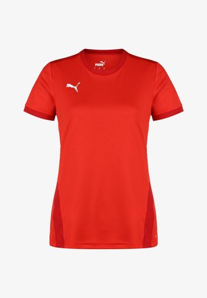 TEAMGOAL - Print T-shirt - puma red/chili pepper