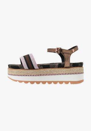 ADIGE - Platform sandals - multicolor