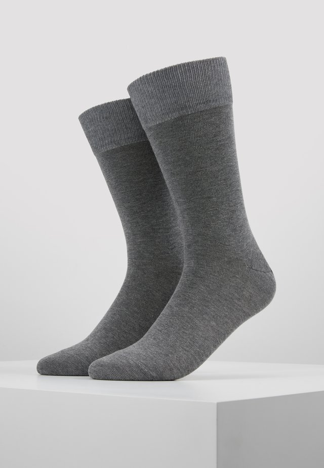 Happy 2-Pack Socks - Chaussettes - mottled grey