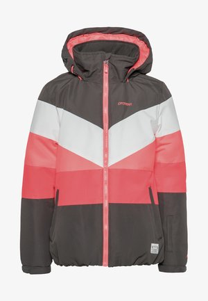 Snowboard jacket - white/pink/coral
