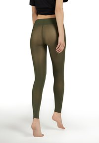Calzedonia - BLICKDICHTE SOFT TOUCH TOTAL COMFORT LEGGINGS - Tights - verde militare - 1