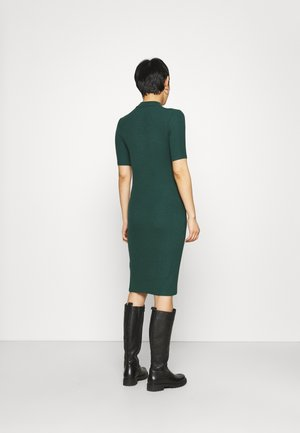 KROWN TSHIRT DRESS - Neulemekko - bottle green