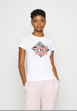 REGULAR FIT GRAPHIC TEE - T-Shirt print - white