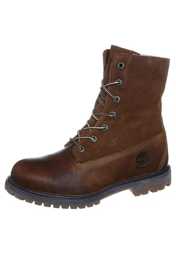 AUTHENTICS - Lace-up ankle boots - tobacco